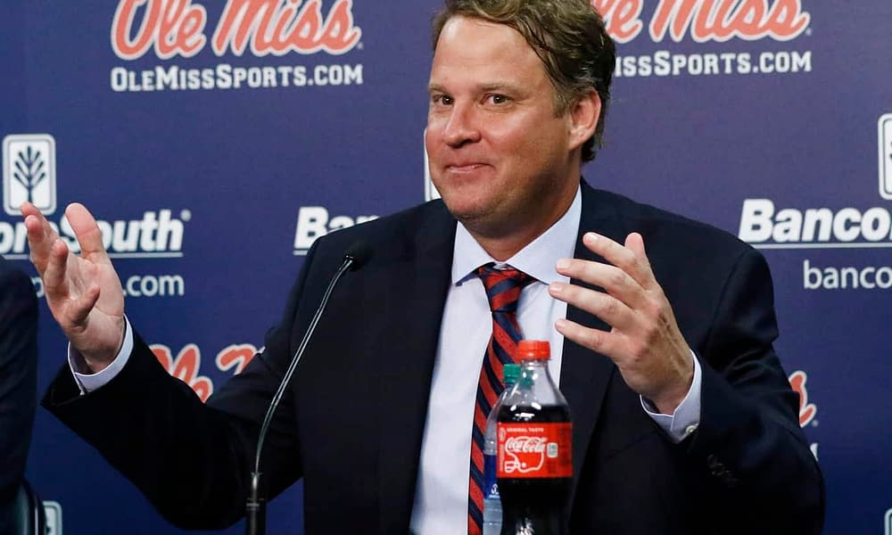 Ole Miss head coach Lane Kiffin took to social media to send a troll message from Los Angeles amid the head coaching vacancy at USC