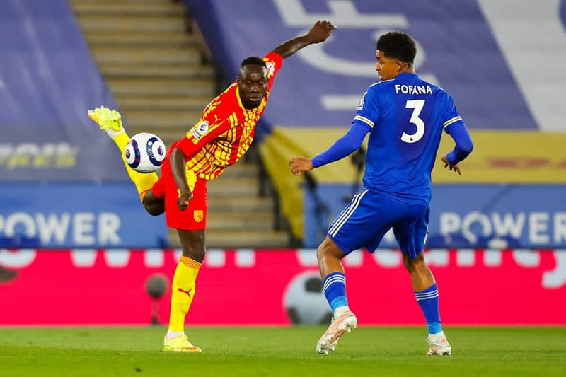 DraftKings EPL DFS lineup picks cheat sheet for daily fantasy English Premier League Soccer Monday May 3 Diagne