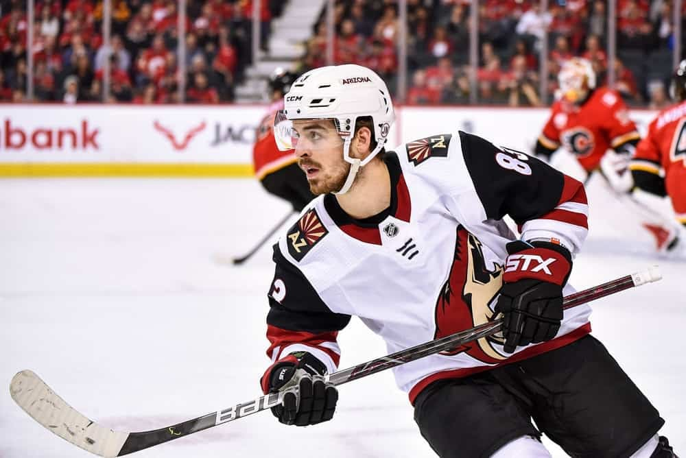 Josh Anderson finds the best daily fantasy hockey Picks for DraftKings & FanDuel lineups using Awesemo's expert Top Stack Tool | Coyotes