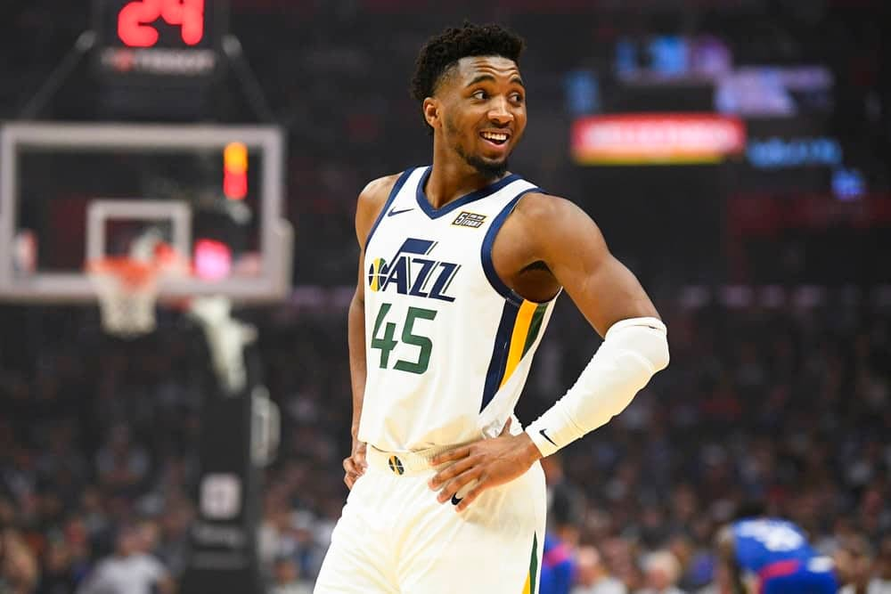 EMac gives his favorite NBA DFS picks for Yahoo + DraftKings + FanDuel daily fantasy basketball lineups Donovan Mitchell | Monday 4/12/21