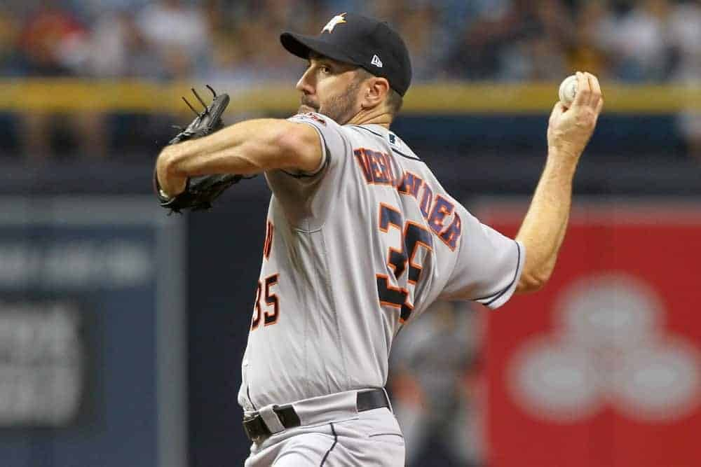 Yahoo DFS MLB picks like Justin Verlander for September 28 MLB DFS based on projections and ownership from the number 1 DFS player.