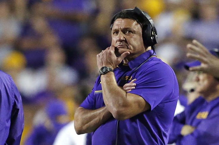 According to reports, Coach O would invite his girlfriends to LSU practices, and even let their kids participate in team drills