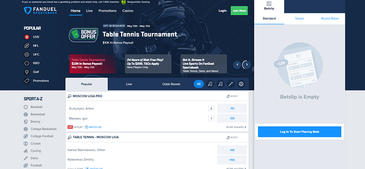 FanDuel Sportsbook FanDuel Sportsbook is a newcomer to the online betting landscape. Here's a sports betting review, and look at how to bet sports online.