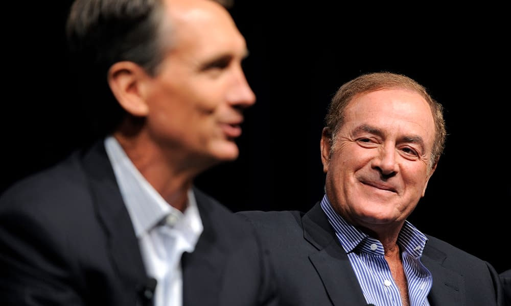 The NFL world went crazy in celebration after Chris Collinsworth did his first slide in of the 2021-22 NFL season on Thursday night