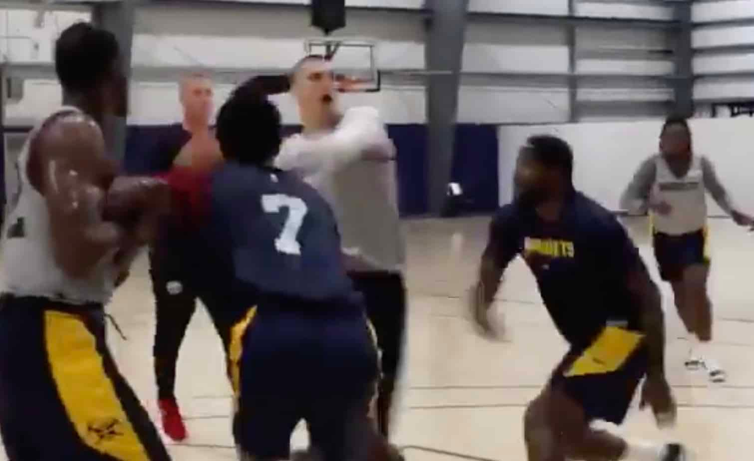 After showing off the new skinny Nikola Jokic at a basketball practice in Europe, the Nuggets star showed off some fancy new moves in Orlando