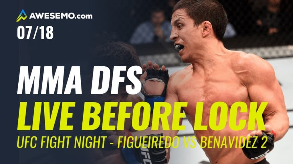 The MMA DFS Live Before Lock Show for UFC Fight Night: Figueiredo vs Benavidez 2. Top UFC DFS picks for lineups on DraftKings + FanDuel.