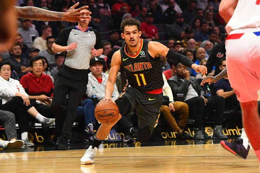 Awesemo brings the 6/12/21 NBA DraftKings Picks cheat sheet for daily fantasy basketball lineups on June 12, including Trae Young.