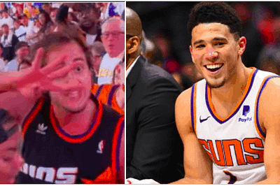 """According to a report, Devin Booker has gotten in touch with the famous """"Suns in four"""" fan, and we'll be seeing him later in the playoffs"""