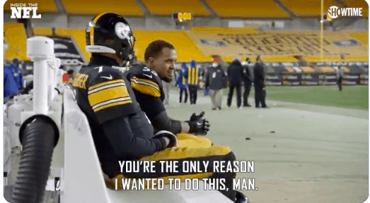 Maurkice Pouncey and Ben Roethlisberger have emotional talk