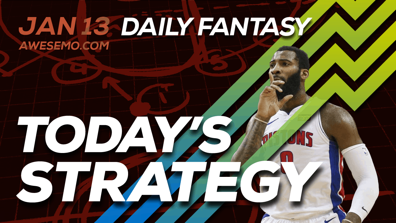 FREE Awesemo YouTube NBA DFS picks & content for daily fantasy lineups on DraftKings + FanDuel including Andre Drummond and more!