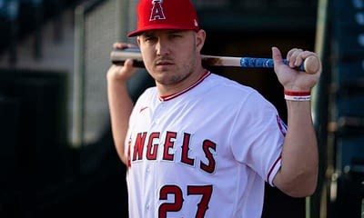 DraftKings MLB DFS daily fantasy baseball picks cheat sheet for Monday April 19 with Mike Trout