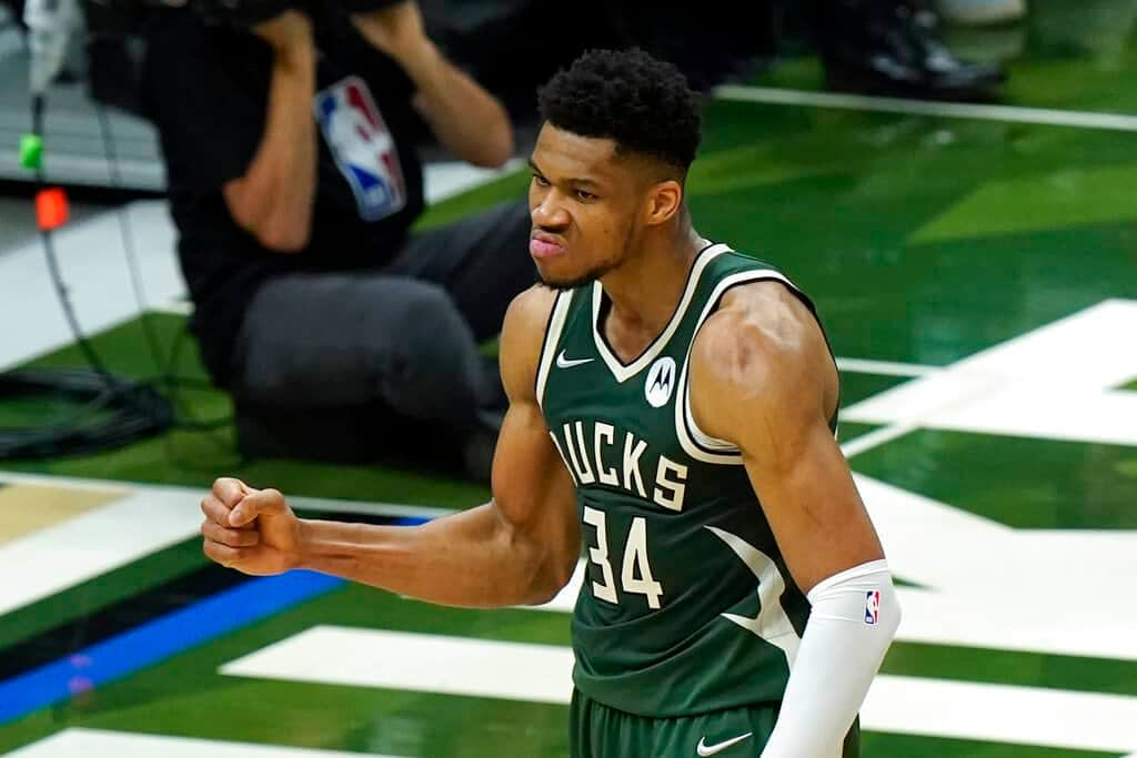 EMac gives his favorite NBA DFS picks for Yahoo, DraftKings + FanDuel daily fantasy basketball playoffs lineups, including Giannis Antetokounmpo | 7/17/21