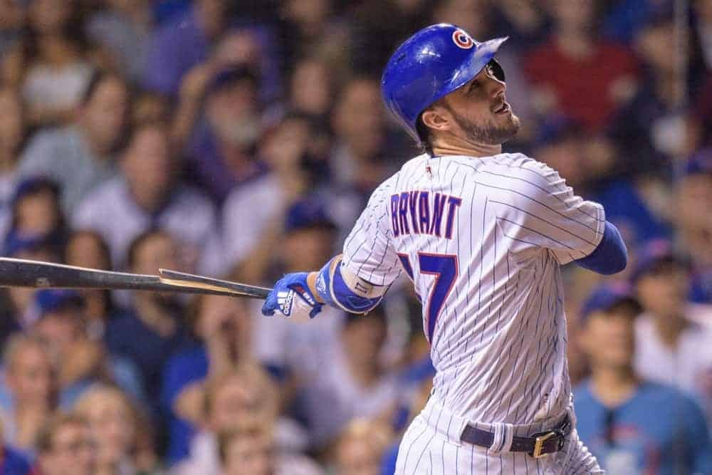 MLB DFS Picks, top stacks and pitchers for Yahoo, DraftKings + FanDuel daily fantasy baseball lineups, including Kris Bryant | Monday 6/14