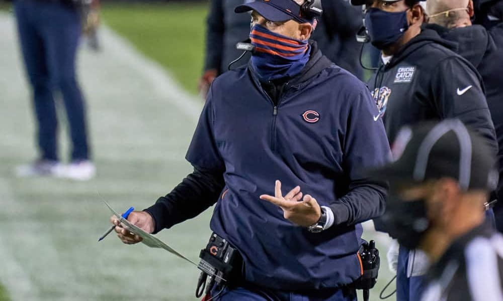 According to a report, Chicago Bears head coach Matt Nagy could be fired as early as next week if the team loses to the Lions over the weekend