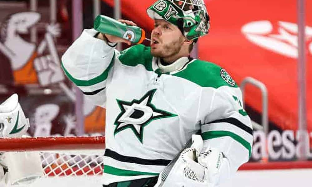 Awesemo's free DraftKings NHL DFS Picks cheat sheet for fantasy hockey lineups based on expert projections featuring Anton Khudobin   5/9/21