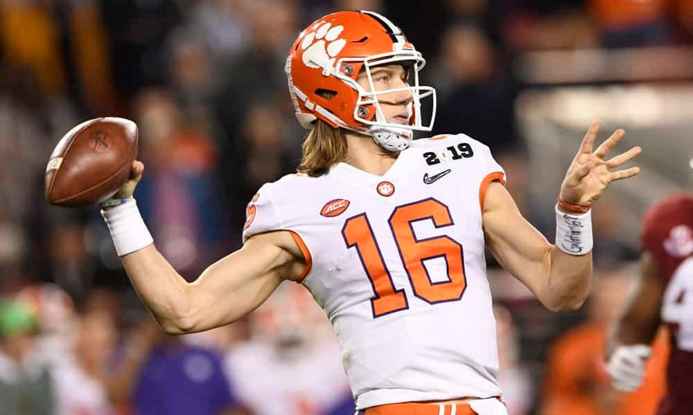 Rookie Jaguars quarterback Trevor Lawrence had to pay up a bet with a teammate by wearing Georgia gear following Clemson's loss this weekend