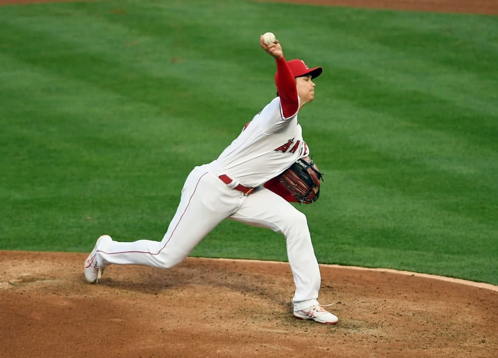 DraftKings & FanDuel Daily Fantasy Baseball MLB DFS starting pitchers projections, ownership projections with Shohei Ohtani today Monday May 3