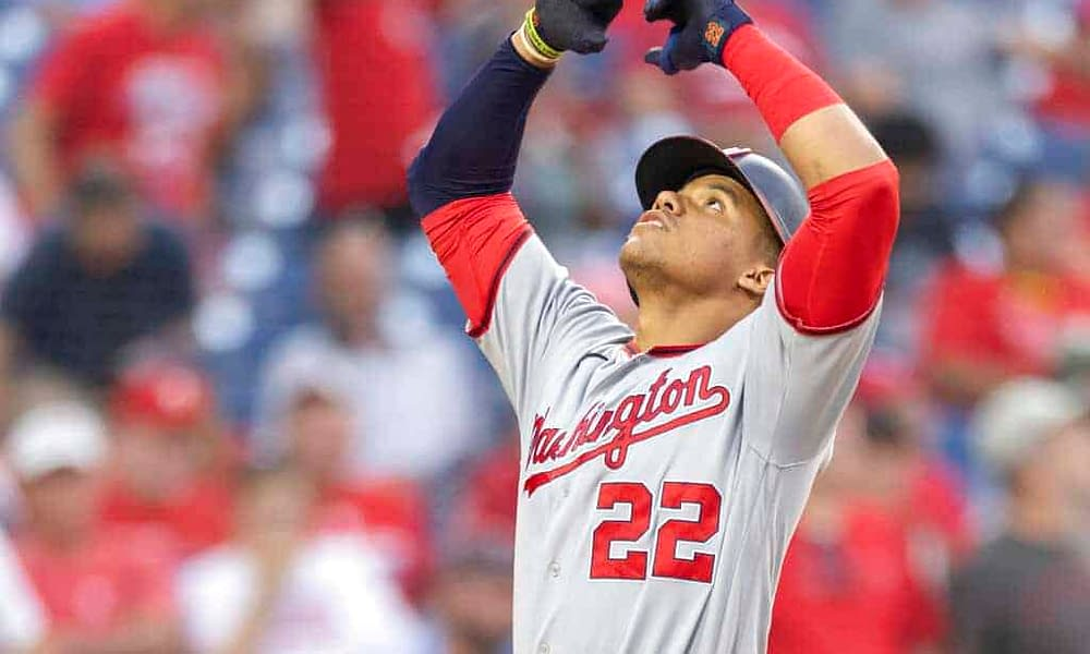 Washington Nationals star Juan Soto is showing his love for his former teammate, Trea Turner, for the Wild Card Game on Wednesday night