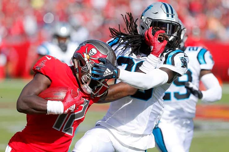 FanDuel NFL DFS Picks Week 6 Thursday Night football cheat sheet Buccaneers vs. Eagles tonight CHris Godwin optimal lineup optimizer free expert advice tips strategy rankings projections ownership best bets predictions parlays lines stacks showdown