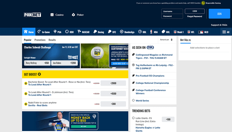 FOXBet Sportsbook FOXBet Sportsbook is one of the newer online sports books to launch. Here's a sports betting review, and look at how to bet sports online.