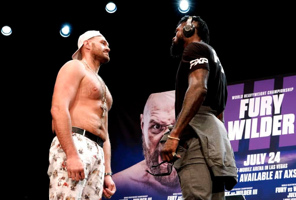 A new video gives a mic'd up look at what Deontay Wilder said to Tyson Fury after getting knocked out on Saturday night