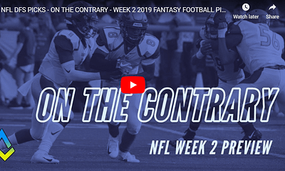 Alex 'Awesemo' Baker is joined by Sharp Football's Rich Hribar and host Chris Spags to give out their NFL DFS Picks for Week 2