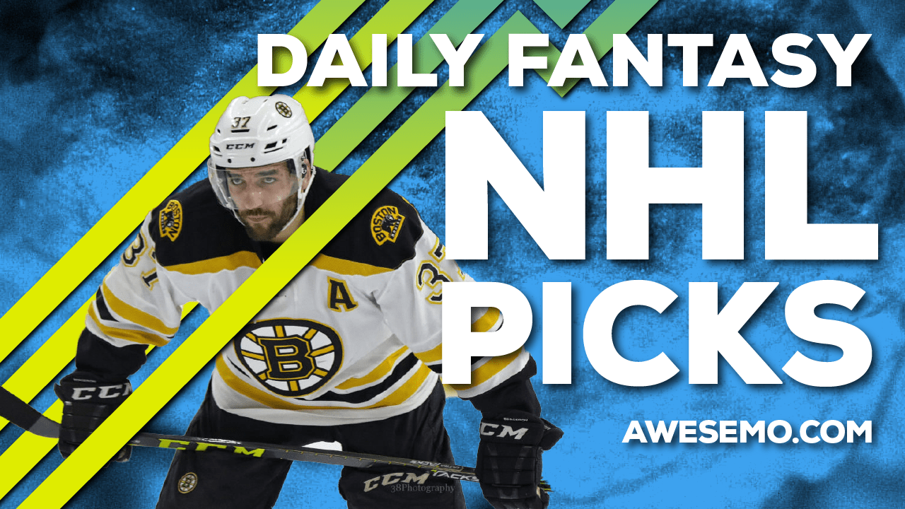 Awesemo's NHL DFS Strategy show breaks down the top DraftKings & FanDuel NHL picks for today's slate, including Patrice Bergeron and more!