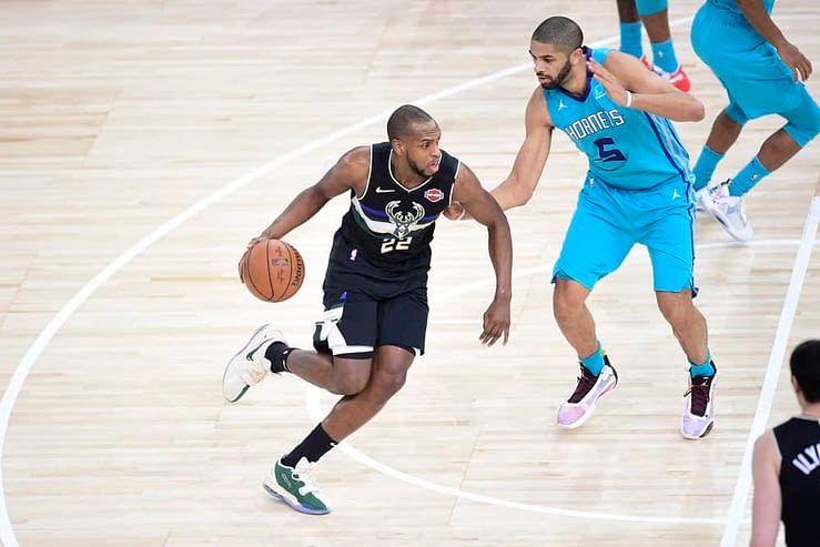 Daily fantasy basketball picks. FanDuel and DraftKings NBA DFS lineup advice for Monday, May 10, featuring Khris Middleton.