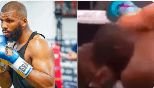Fans are calling the Floyd Mayweather-Logan Paul fight rigged after video shows Mayweather holding Paul up from a potential knockout
