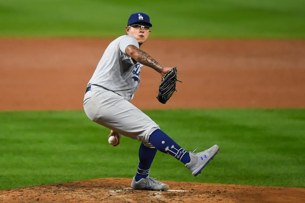 MLB DFS picks DraftKings FanDuel daily fantasy baseball top stacks top pitchers ownership rankings projections free expert optimal lineup optimizer Julio Urias Dodgers tonight