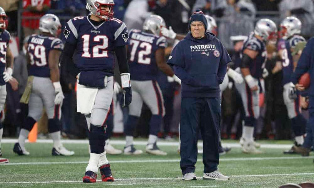 According to a report, Tom Brady and Bill Belichick engaged in a lengthy private meeting following the reunion game on Sunday night