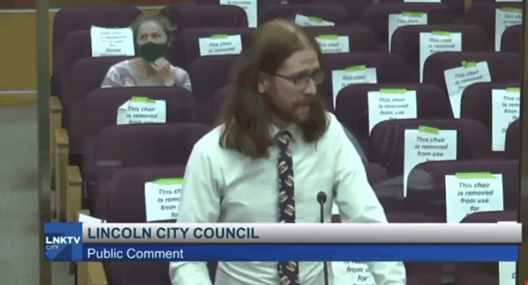 """Andre Christensen took to a Lincoln City Council meeting to express some very valid points about the dangers of """"boneless wings."""""""