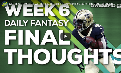 Sal Vetri and Chris Randone give out their NFL DFS Picks for Week 6 Daily Fantasy Lineups on DraflKings, FanDuel, Yahoo and FantasyDraft.