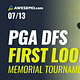 The PGA DFS First Look with Jason Rouslin, Sal Vetri & Geoff Ulrich previewing The Memorial for DraftKings & FanDuel + best bets! Tiger Woods