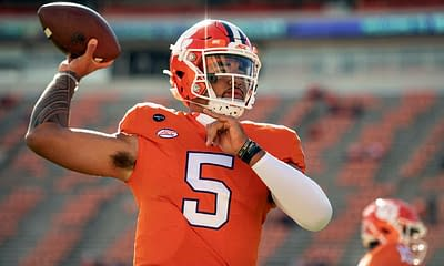 CFB DFS Picks DraftKings FanDuel College Football projections free expert advice tips strategy daily fantasy optimal lineup optimizer week 7 Clemson Oregon stacks D.J. Uiagalelei