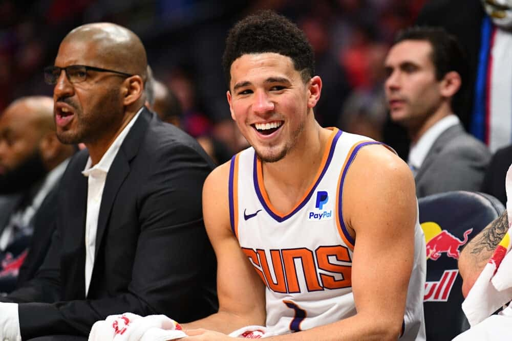 NBA Fanduel lineup picks Top 5 rankings daily fantasy basketball tonight June 11 2021 from Josh Engleman's expert projections simulations predictions and ownership with Devin Booker