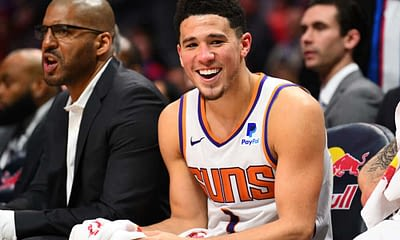 NBA DraftKings Picks daily fantasy lineup cheat sheets with Devin Booker