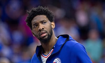 After Ben Simmons was kicked out of practice on Tuesday, Joel Embiid spoke on how he 'doesn't care about that man' anymore