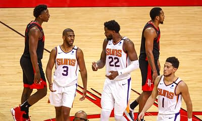 EMac gives his favorite NBA DFS picks for Yahoo, DraftKings + FanDuel daily fantasy basketball playoffs lineups, including Chris Paul   7/14/21