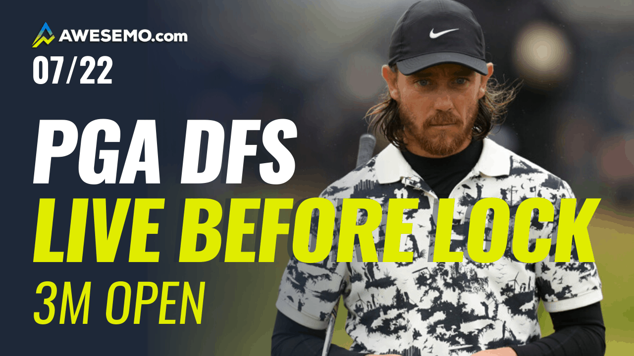 The PGA DFS Live Before Lock with Ben Rasa and Jason Rouslin for the 3M Open with PGA DFS picks for DraftKings, FanDuel & SuperDraft.