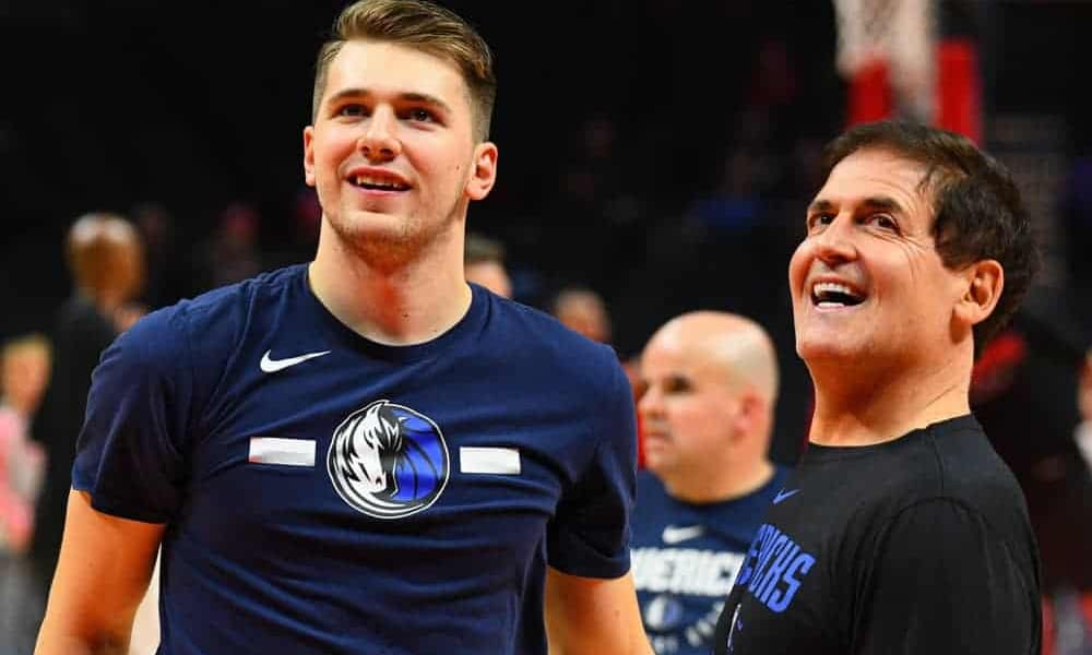 To celebrate the massive contract extension, Mark Cuban, Luka Doncic, Dirk Nowitzki and other members of the Mavs' brass were drinking a ton of wine