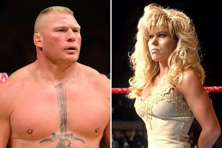 "Brock Lesnar is in hot water after allegedly opening his towel and exposing his ""manly bits"" to former WWE Dive Terri Runnels."