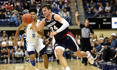 Matt Gajewski breaks down the best CBB DFS picks for DraftKings & FanDuel college basketball lineups on Monday, March 8 | Gonzaga