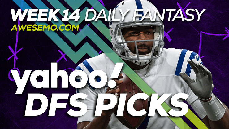 """Alex """"Awesemo"""" Baker and Nolan Kelly sit down to discuss and make their NFL DFS Picks for Yahoo NFL DFS Week 14, Jacoby Brissett & more!"""