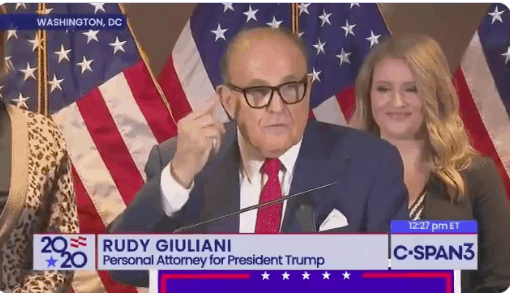 Rudy Giuliani makes baseless claims of voter fraud and insults philadelphia eagles fans
