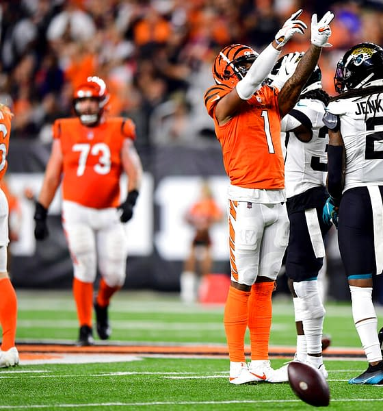 Week 6 DraftKings Tiers NFL DFS Picks stacks optimal lineup optimizer Ja'Marr Chase free expert rankings projections ownership leverage tournament strategy tips advice this week rankings Bengals Lamar Jackson Ravens QB