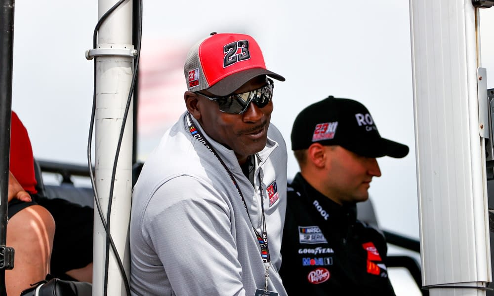 Michael Jordan reacted to the first win by his one and only driver of the 23XI team, Bubba Wallace, which was the first win by an African-American driver since 1963