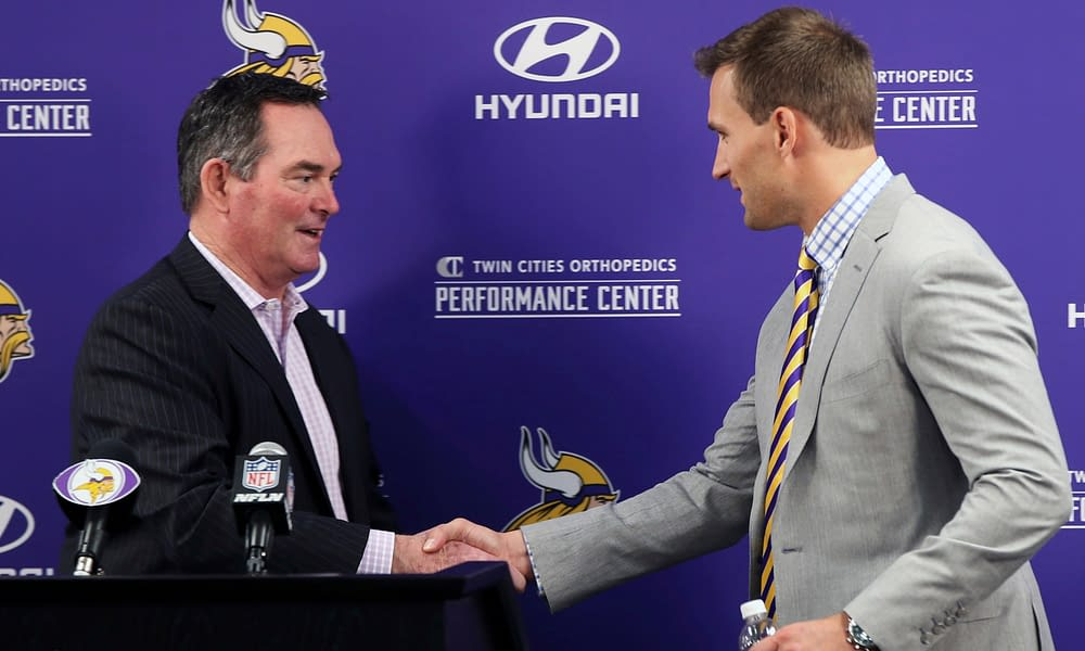 Minnesota Vikings head coach Mike Zimmer made an interesting revelation about his relationship with quarterback Kirk Cousins on Thursday