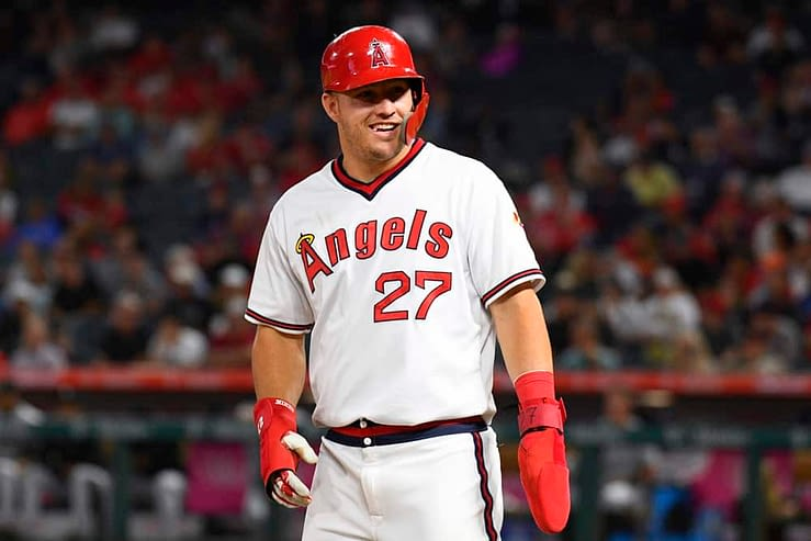 FanDuel MLB DFS picks daily fantasy baseball cheat sheet for Monday May 10 with Mike Trout based on expert projections and ownership