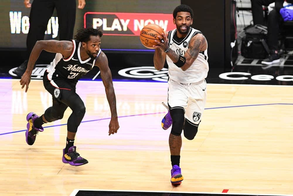NBA Yahoo DFS daily fantasy basketball lineups. NBA Playoff cheat sheet 6/10/21. Awesemo's picks and projections June 10 with Kyrie Irving.